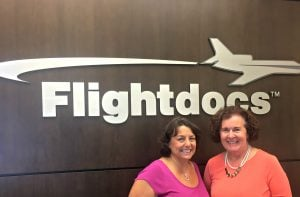 At Flightdocs with April Stercula and Coach Darcy