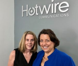 Theresa Fletcher of Hotwire Communications & Coach Darcy