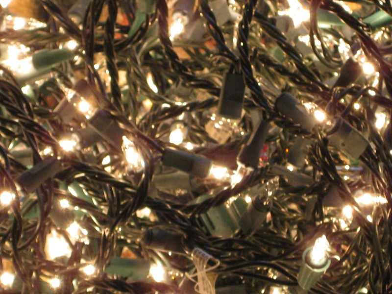 the lights all aglow--happy holidays from Darcy Eikenberg and RedCapeRevolution.com