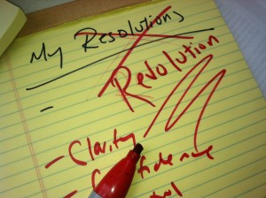 my new years revolutions