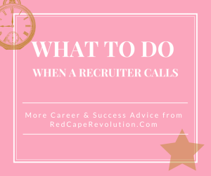 what to do when a recruiter calls