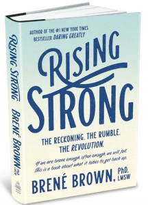 Rising Strong by Brene Brown, a Red Cape Revolution fave