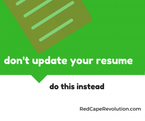 don't update your resume (FB)