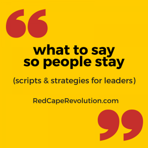 what to say so people stay _ Red Cape Revolution (FB)