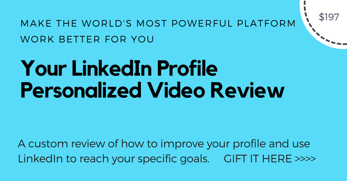 LinkedIn Profile Video review