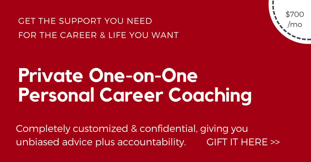 Private one-on-one career coaching