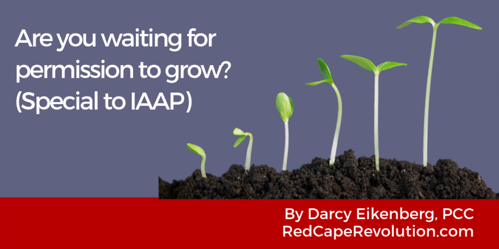 Are you waiting for permission to grow- Special to IAAP_ Darcy Eikenberg -Red Cape Revolution(1)